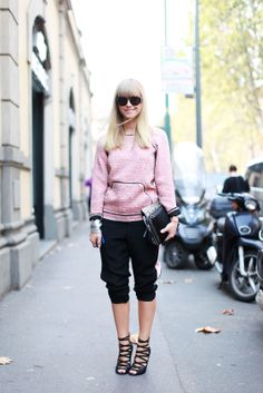 70 Bellissima Milan Street-Style Shots #refinery29 My daughter Mosha at Milan Fashion Week wearing the silver metallic leather cuff from http://designedbylindalundstrom.com