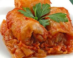 Stuffed Cabbage Rolls Hungarian-Style Stuffed Cabbage - I've never made this with sauerkraut before, but it sounds interesting.Hungarian-Style Stuffed Cabbage - I've never made this with sauerkraut before, but it sounds interesting. Hungarian Cuisine, Hungarian Recipes, Hungarian Food, Croatian Recipes, Cabbage Rolls Recipe, Cabbage Recipes, Cabbage Rolls Stuffed, Hungarian Stuffed Cabbage, Great Recipes