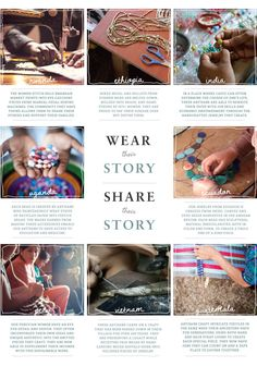 Noonday Collection. Fair Trade jewelry and accessories that help women around the world escape poverty.