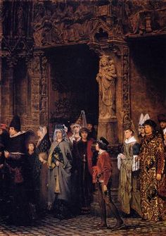 Leaving Church in the Fifteenth Century - Sir Lawrence Alma-Tadema