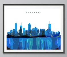 Skyline, Montreal Skyline, Geometric Skyline Print, Geometric Print, Modern Geometric Skyline Art, Geometric Art, Home Decor, Wall Art, Urban Buildings, Cityscape Prints, Architecture, Giclee Art Print, Contemporary Art, Wall Art, White Background.  Available sizes are shown in the SELECT A SIZE drop down menu above the ADD TO CART button.  This print is offered on superior quality pearl matte art paper and watercolor art paper . Either option are available in the PAPER TYPE drop down menu…