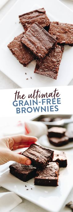 The ultimate grain-free brownies - flourless, decadent, fudgy and healthy, these grain-free brownies will become your favorite dessert recipe on first bite.