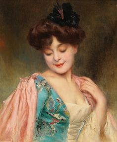 A Coquette Lady - Alexis Vollon (french painter)