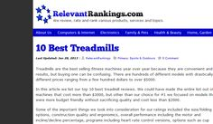0http://www.relevantrankings.com/10-best-treadmills/ - treadmill reviews  Come check out our website. https://www.facebook.com/bestfiver/posts/1424352434444394