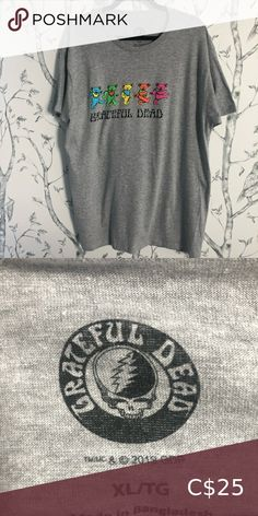 Grateful Dead Band Tee - XL New without tags! Men's size XL Oversized! Dead Band, Grateful Dead Shirts, Plus Fashion, Fashion Tips, Fashion Trends, Band Tees, Tee Shirts, Man Shop, Tags