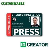 15 Best Press Pass Images Id Card Template Cards Id Creator