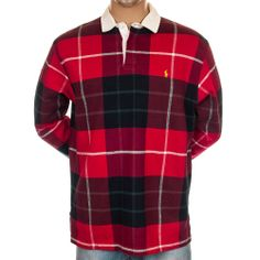 Vintage Polo Ralph Lauren Tartan Plaid Shirt Long Sleeve USA Thick Cotton Pony L #PoloRalphLauren #PoloRugby #Shirt #Polo #SomeLikeItUsed