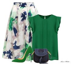 """Green"" by sonies-world ❤ liked on Polyvore featuring WithChic and Chloé"