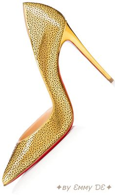 Brilliant Luxury✦ву Ɛмму ƊƐ✦Christian Louboutin 'Galu' Pump Specchio/Glitter……