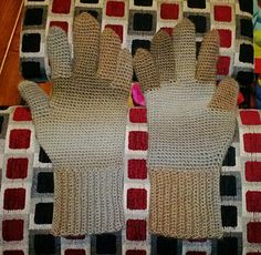 """This is not a pattern. This is a """"recipe"""" for custom fitting a glove to your (or another's) hand. The method is pretty intuitive for the more experienced crocheter, with easy-to-follow instructions and explanations for a newer crocheter. A hand drawn chart is included for the thumb gusset."""