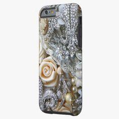 iPhone 6 Cases | Diamond Bling Bling Fleur-de-les Bouquet iPhone 6 Case