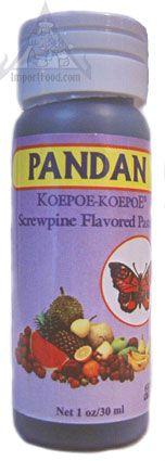 Pandan essence / Screwpine Paste, available online from ImportFood.com