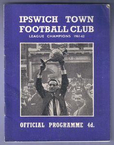 Ipswich Town v Tottenham Hotspur 1962/1963 Football Programme Division 1