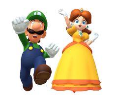 Luigi and Daisy by on DeviantArt Super Mario Bros, Super Mario Games, Super Mario Brothers, Super Smash Bros, Luigi And Daisy, Mario And Luigi, Super Mario Costumes, Daisy Costume, Luigi Costume