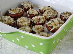 Mozzarella Parmesan Stuffed Mushrooms
