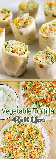Vegetable Tortilla Roll Ups More