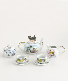 Take a look at this Wizard of Oz Miniature Collector's Tea Set by Cardew Design on #zulily today!