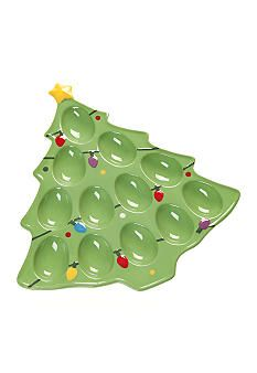 Home Accents® Santa's Friends Christmas Tree Egg Plate