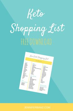 This free printable keto shopping list will take all of the guess work out of shopping for the keto diet. Keep this on your phone for a quick reference! #ketodiet #ketorecipes #ketofoods #keto #ketogenicdiet