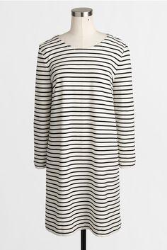 striped knit tee dress