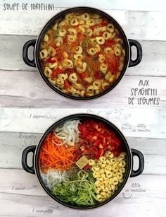 Tortellini soup with vegetable spaghetti Vegetarian Recipes Dinner, Meat Recipes, Fall Recipes, Chicken Recipes, Healthy Recipes, Cooking Recipes, Vegetable Soup Healthy, One Pot Pasta, Batch Cooking