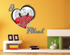 I Love Poland Wall Decal