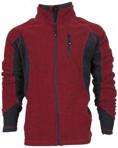 Life-Line Scott Wandel Pique Fleece Jas Heren in de kleur Rood. € 59.95