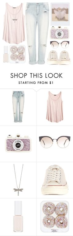 """""""2. Pink girl"""" by raquel-t-k-m ❤ liked on Polyvore featuring sass & bide, H&M, Band of Outsiders, RetroSuperFuture and Converse"""