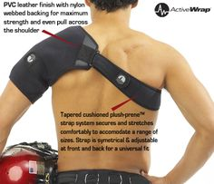 Applications: For use as a Shoulder Ice Wrap/ Shoulder Heat Wrap  Rotator Cuff Injury/Rotator Cuff Tear  Shoulder Tendinitis/ Shoulder Bursitis  Post-Op Shoulder Pain and Swelling Adhesive Capsulitis/Frozen Shoulder Post workout muscle recovery Shoulder Rehabilitation Purchase at  If you like this you can purchase at http://woodbats4sale.com/Active_ware_Compress/Active_Ware_Shoulder_Ice.html