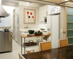 Já mostrei soluções diferentes para  a sala de estar, sala de jantar e banheiro . Agora vamos lá na cozinha?
