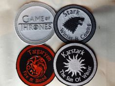 Game of Thrones Iron on / Sew on patch by Debsandlilly on Etsy