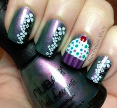 I'm totally putting a cupcake on my nails for my birthday.