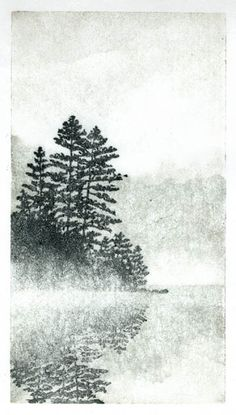 Linocut monoprint by Andrea Starkey