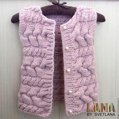 """Купить Жилетка """"стильная штучка"""" - розовый, однотонный, жилетка вязаная, жилет для девочки, жилет вязаный"""