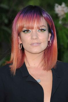 Lily Allen's hair color is pretty cool!