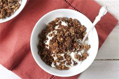 Coffee Granola with Chocolate, Honey + Sea Salt 2 offbeat + inspired