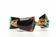 Black and Green Agate