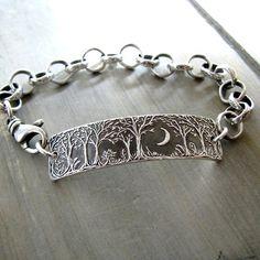 Forest Moon Armband Nr. 3 feinen Silber-Schmuck von SilverWishes