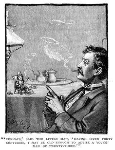 Little man 1886. From 19th century children's periodical St. Nicholas Magazine