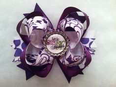 Shades of Purple Girls Hair Bow Little Girl Big by MadeForMaddie, $4.50