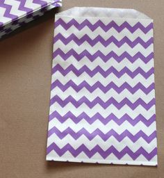 20 Purple Chevron Candy Buffet Favor Bags by CherishedBlessings, $5.99