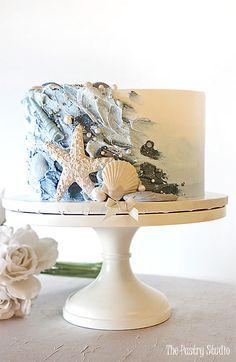 Luxury Special Event Cakes in Daytona Beach FL Gorgeous Cakes, Pretty Cakes, Cute Cakes, Beach Themed Cakes, Beach Cakes, Cute Birthday Cakes, Beach Cake Birthday, Modern Birthday Cakes, Wave Cake