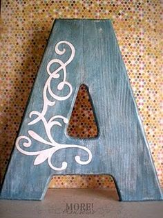 chalkboard paint letters!!! coat letters with chalkboard paint and then get skinny chalk so they can decorate their letters how they like :)