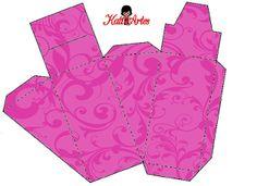 Cajas con arabescos para tarta de cajas, para imprimir gratis. 34 modelos diferentes.