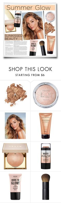 """""""Summer glow"""" by fashion-film-fun ❤ liked on Polyvore featuring beauty, Laura Mercier, Anja, Christian Dior, Stila, Maybelline, NYX and NARS Cosmetics"""