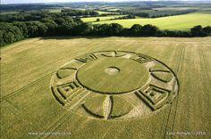 Aparece extraño Crop Circle en Reino Unido 16 de junio de 2016 - extranotix