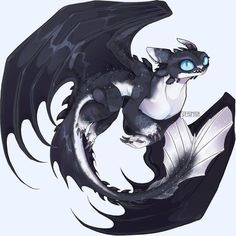 Night Light dragon of Toothless and Light Fury Dragons Le Film, Httyd Dragons, Dreamworks Dragons, Cute Dragons, Mythical Creatures Art, Fantasy Creatures, Toothless Drawing, Hicks Und Astrid, Night Fury Dragon