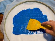 Easy silk screening with materials you have around the house