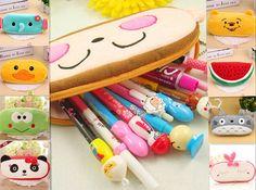 Cute Soft Plush Pencil Pen Case Novelty Makeup Cosmetic Pouch Bag Zipper USHO #Unbranded