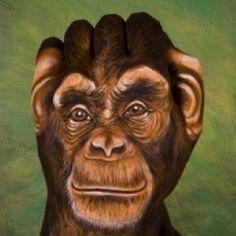 Hand art. It's a chimp :)